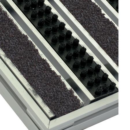 Mattensystem mit Bürsten und saugfähigem Textil