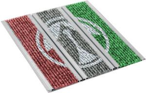 Mattensystem mit bedrucktem Textil