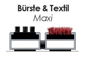 Maxi mit Bürste und Textil Lauffläche