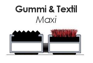 Maxi mit Gummi und Textil Lauffläche